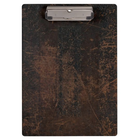 Brown Scuffed Leather (Faux) Clipboards