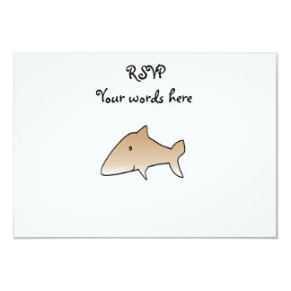 "Brown shark 3.5"" x 5"" invitation card"
