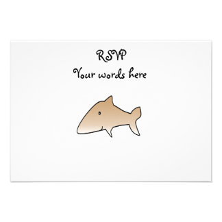 Brown shark invite