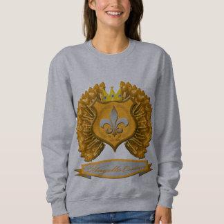 Brown shield, crown and wings Sweatshirt