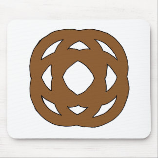 Brown Simple Circle Knot Mouse Pad