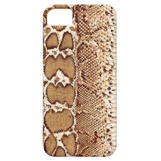Brown Snake Skin Print iPhone 5 Case