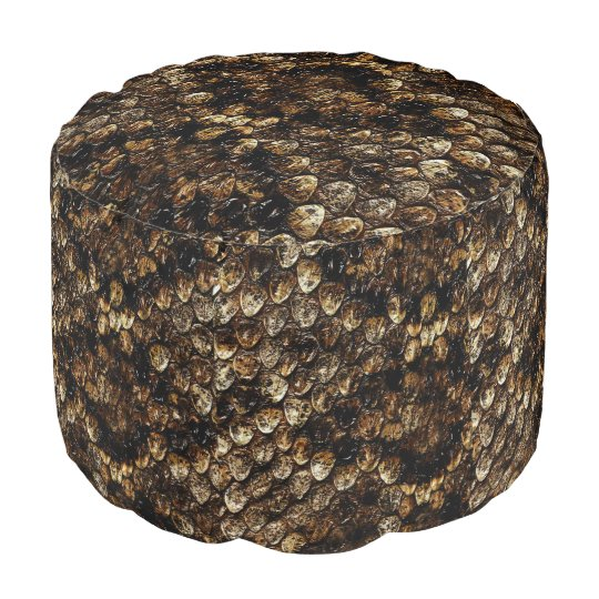 Brown_Snake_Skin_Texture_Full_Colour_Pouf. Pouf