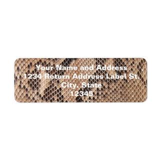 Brown Snakeskin Look Return Address Label