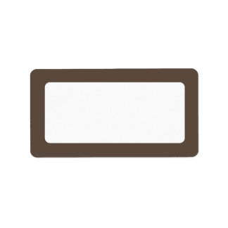 Brown solid color border blank