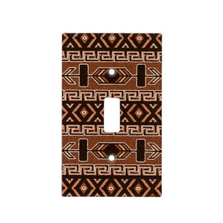 Brown Southwest Aztec Design Light Switch Cover