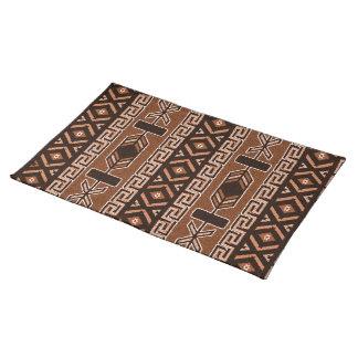 Brown Southwest Aztec Pattern Place Mats