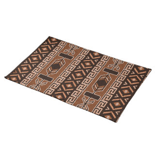 Brown Southwest Aztec Pattern Placemat