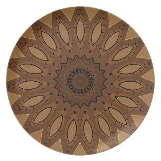 Brown Southwestern Design Plate