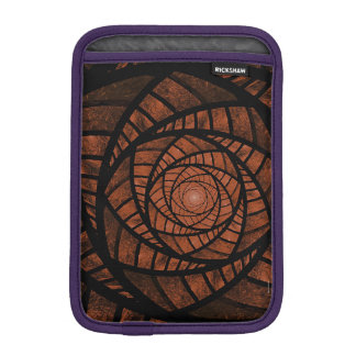 Brown Spiral iPad Mini Sleeve