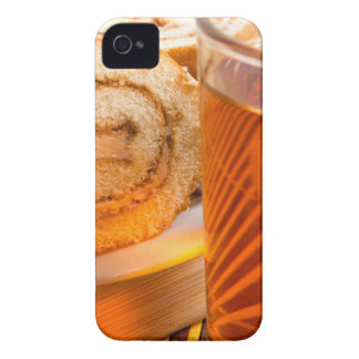 Brown sponge cake and cup of hot tea iPhone 4 Case-Mate cases