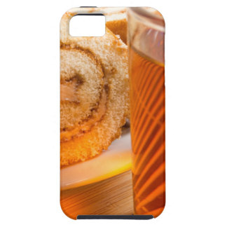 Brown sponge cake and cup of hot tea iPhone 5 covers