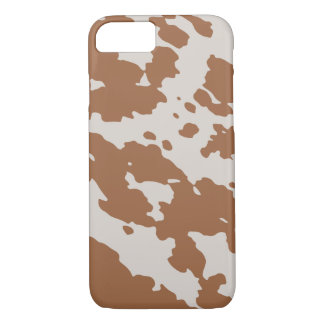 Brown Spotted Cowhide Animal Print iPhone Case