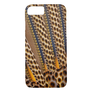 Brown spotted pheasant feather iPhone 7 case