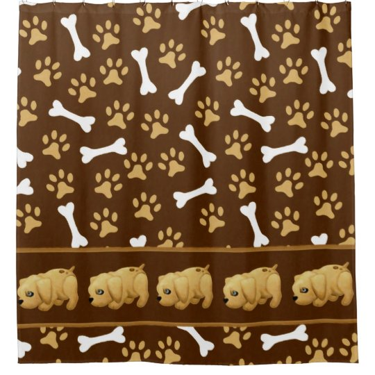 Brown Spotted Puppy Dog Shower Curtain