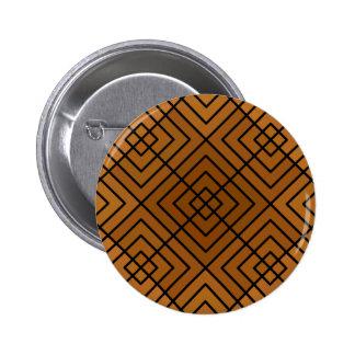 Brown Square Affair Pinback Button