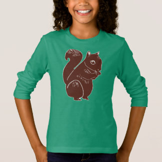 Brown Squirrel Girls' Long Sleeve T-Shirt