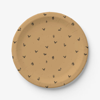 Brown squirrel pattern plate 7 inch paper plate