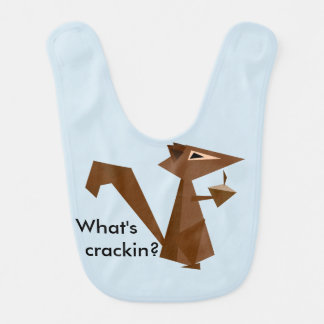 Brown Squirrel What's Crackin? Bib