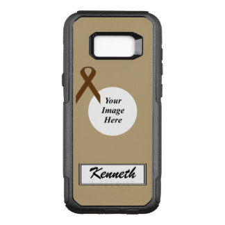 Brown Standard Ribbon Template by Kenneth Yoncich OtterBox Commuter Samsung Galaxy S8+ Case