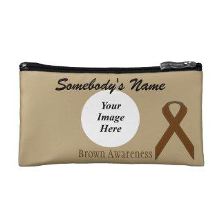Brown Standard Ribbon Template Cosmetic Bags