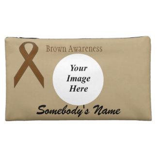 Brown Standard Ribbon Template Makeup Bag