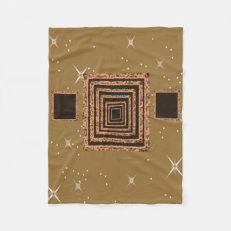 brown star fleece blanket