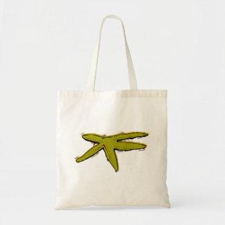 Brown Starfish Tote Bags
