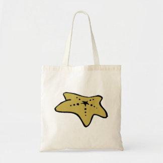 Brown Starfish Tote Bag