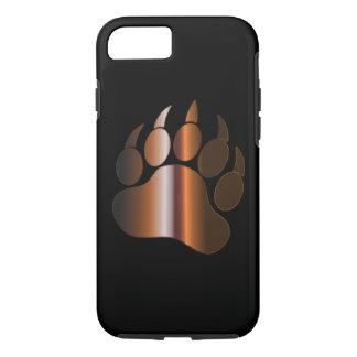 BROWN STEEL BEAR PAW ON BLACK iPhone 7 CASE