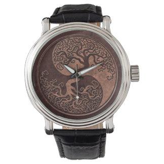 Brown Stone Yin Yang Tree Watch