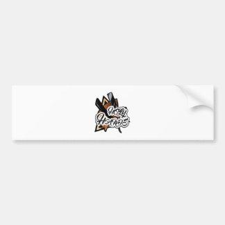 Brown straight razor graphic bumper sticker