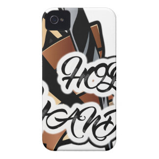 Brown straight razor graphic iPhone 4 Case-Mate cases