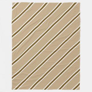 Brown Stripe Large Fleece Blanket