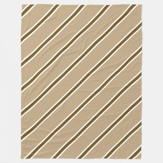 Brown Stripe Large Fleece Blanket