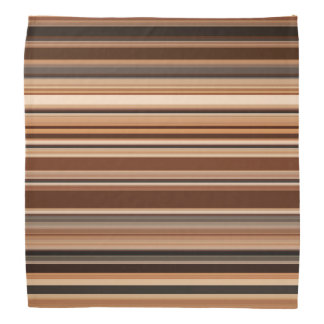 Brown Striped Pattern Bandana