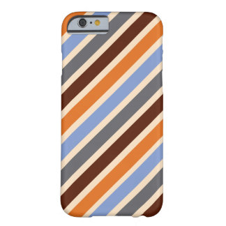 Brown striped Pattern Barely There iPhone 6 Case