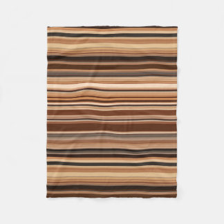 Brown Striped Pattern Fleece Blanket
