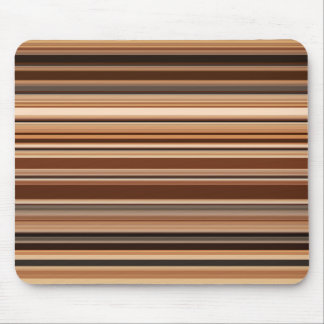 Brown Striped Pattern Mouse Pad