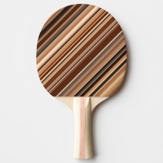 Brown Striped Pattern Ping Pong Paddle