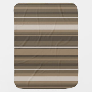 Brown stripes swaddle blankets