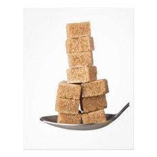Brown sugar cubes letterhead