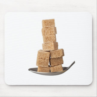 Brown sugar cubes mouse pad