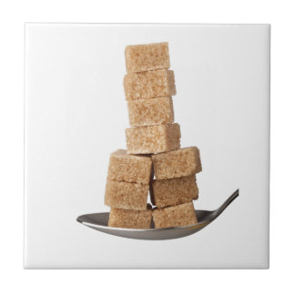 Brown sugar cubes tiles