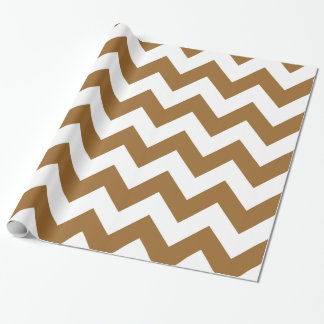 Brown Sugar Neutral Chevrons Wrapping Paper