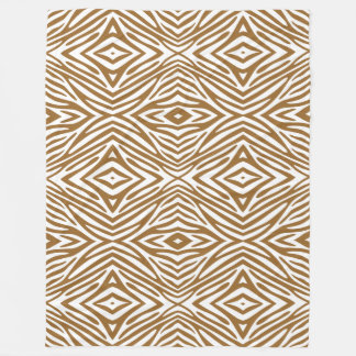 Brown Sugar Neutral Zebra Fleece Blanket