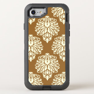 Brown Sugar Southern Cottage Damask OtterBox Defender iPhone 8/7 Case