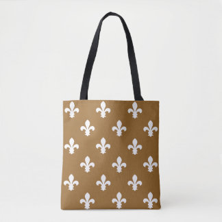 Brown Sugar Southern Cottage Fleur de Lys Tote Bag