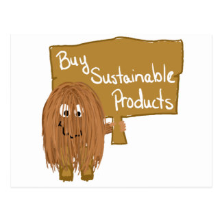 Brown sustainable products postcard