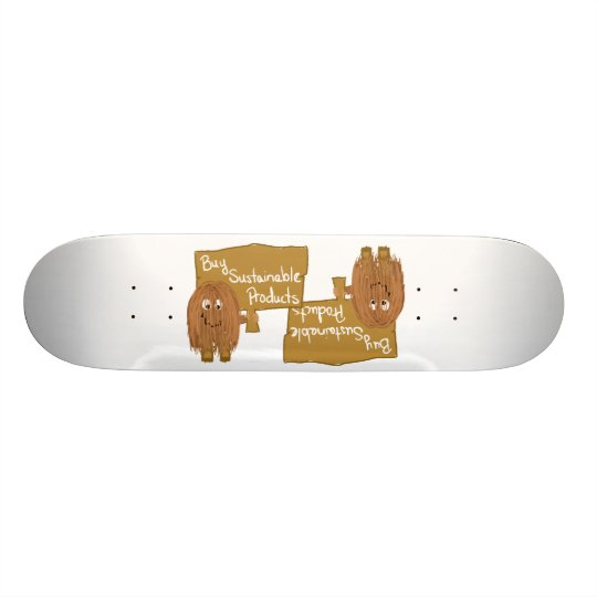 Brown sustainable products skate deck